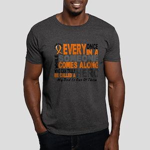 HERO Comes Along 1 Dad LEUKEMIA Dark T-Shirt