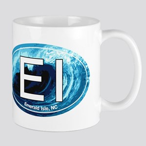 EI Emerald Isle, NC Beach Oval Mug