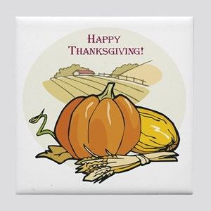Happy Thanksgiving Tile Coaster