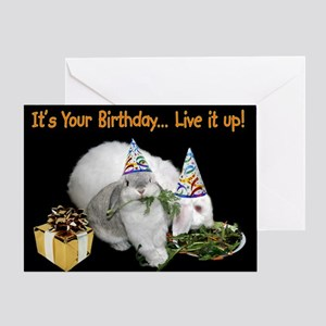 Lop Bunny Birthday Greeting Card
