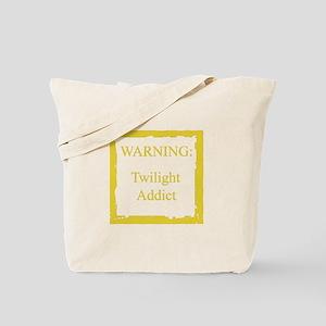 WARNING: Twilight Addict Tote Bag