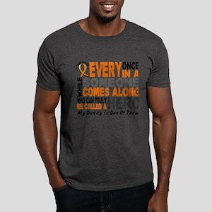 HERO Comes Along 1 Daddy LEUKEMIA Dark T-Shirt