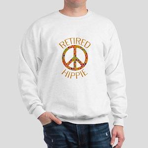 Retired Hippie Peace Sign Sweatshirt
