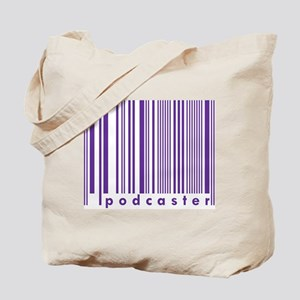 Purple Podcaster Technology Barcode  Tote Bag