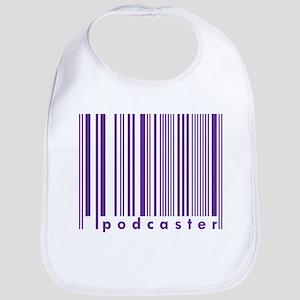 Purple Podcaster Technology Barcode  Bib