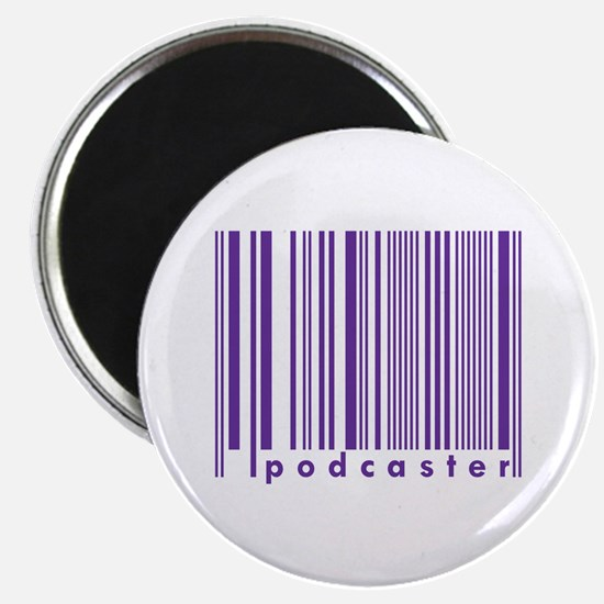 Purple Podcaster Technology Barcode Magnet