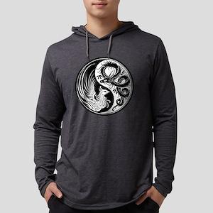 White and Black Dragon Phoenix Yin Yang Long Sleev