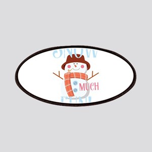 Snow Much Fun Snowman Christmas Snowflakes Patch