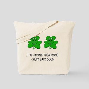 Boobies shamrocks Tote Bag