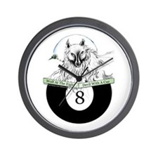 8 Ball Billiard Wolf Wall Clock