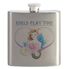 Billiards Rose Flask