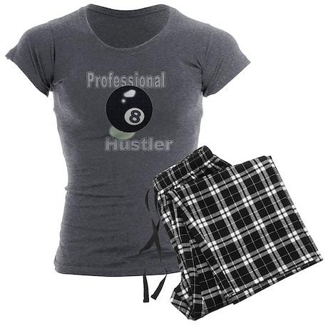 Professional 8 Ball Hustler Charcoal Pajamas Womens Shirt & Pants Pajama Set