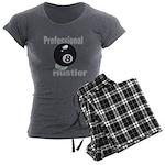 8 Ball Hustler Women's Charcoal Pajamas