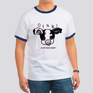 Black & White Pig Ringer T
