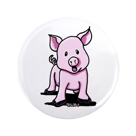 """Chatty Pig 3.5"""" Button"""