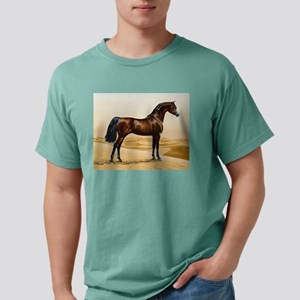Vintage Arabian Horse Painting by William T-Shirt