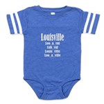 Louisville Baby Football Bodysuit