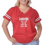 Louisville Women's Plus Size Football T-Shirt