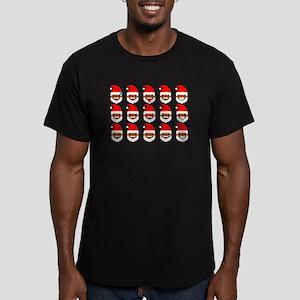 black santa faces T-Shirt