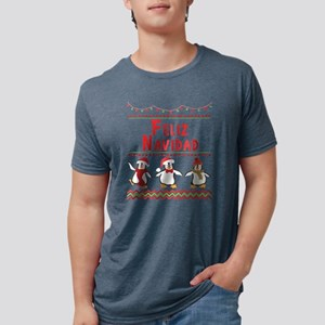 Feliz Navidad Christmas Penguin Holiday De T-Shirt