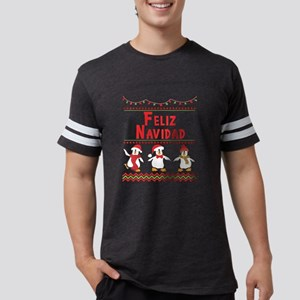 Feliz Navidad Christmas Penguin Holiday De T-Shirt