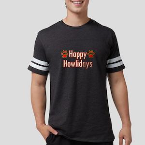 Happy Howlidays Christmas Dog Paws Holiday T-Shirt