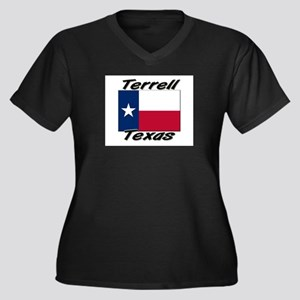 Terrell Texas Women's Plus Size V-Neck Dark T-Shir