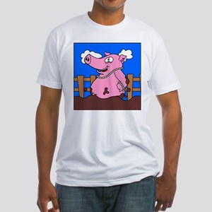 Pearls 2 Swine Fitted T-Shirt
