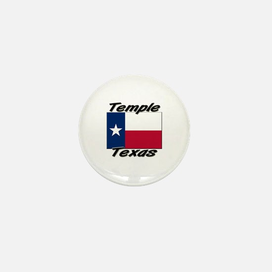 Temple Texas Mini Button