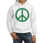 Green Peace Sign Hooded Sweatshirt
