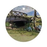Canada Geese in the Park Round Ornament