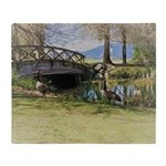 Canada Geese in the Park Throw Blanket