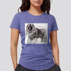 Keeshond portrait White T-Shirt