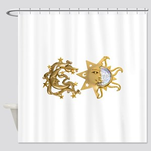 Sun And Moon Shower Curtains