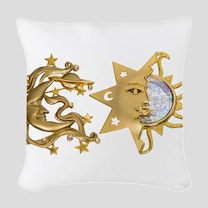 SunMoonSparkle053109 Woven Throw Pillow