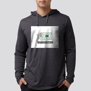 WA WORD COLLAGE Long Sleeve T-Shirt