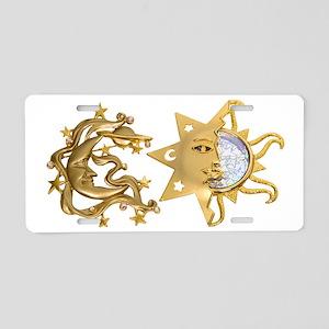 SunMoonSparkle053109 Aluminum License Plate