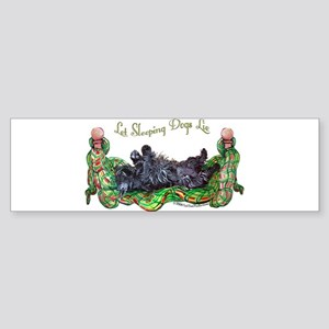Sleeping Scottie Sticker (Bumper)