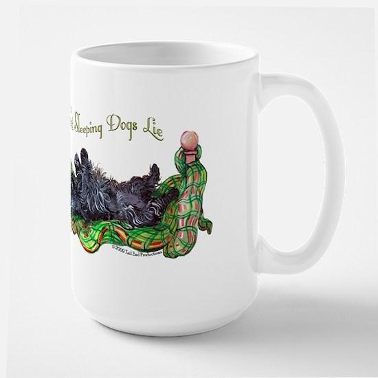 Sleeping Scottie Large Mug