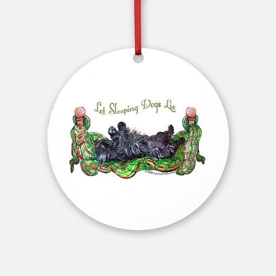 Sleeping Scottie Ornament (Round)