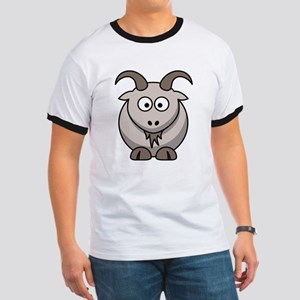 Cartoon Goat Ringer T