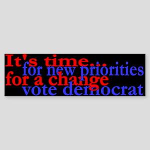 It's Time to Vote Democrat Bumper Sticker