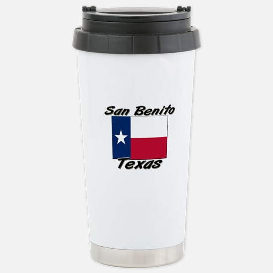 San Benito Texas Stainless Steel Travel Mug