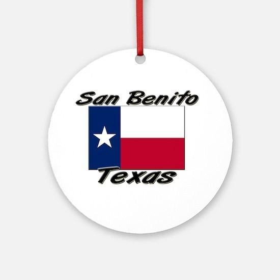San Benito Texas Ornament (Round)
