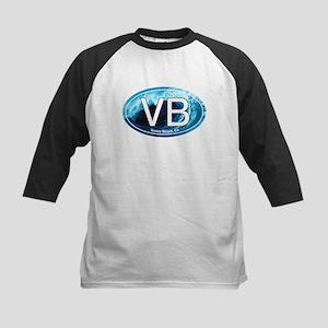VB Venice Beach, CA Wave Oval Kids Baseball Jersey
