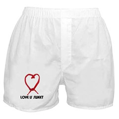 LOVE IS SWEET (LICORICE HEART) Boxer Shorts