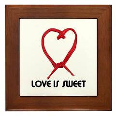 LOVE IS SWEET (LICORICE HEART) Framed Tile