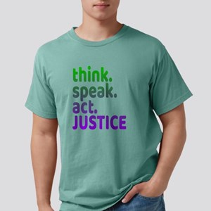"""Think Speak Act Justice"" tee de T-Shirt"