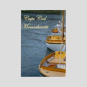Harbor Boats - Cape Cod Massa Rectangle Magnet