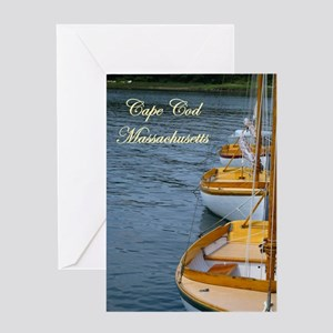 Harbor Boats - Cape Cod Massa Greeting Card